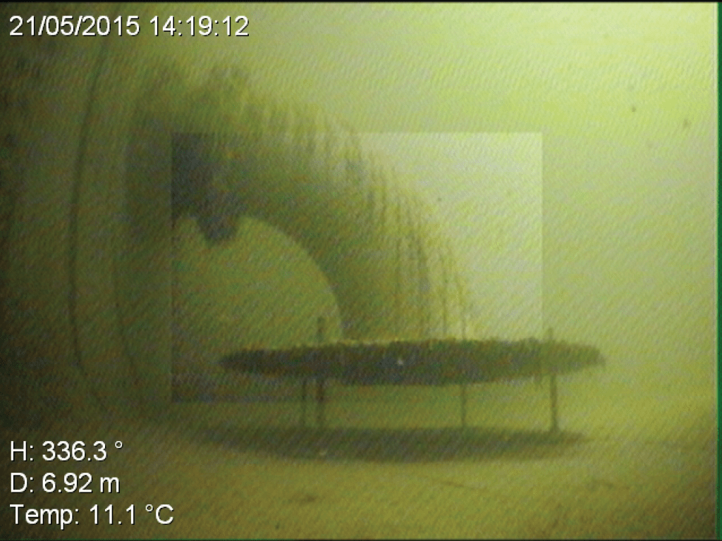 Sprinkler Underwater ROV Inspection