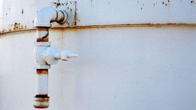 leaking sprinkler tank