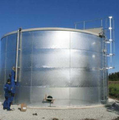sprinkler tank installation project