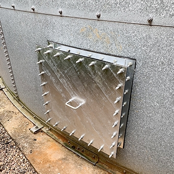sprinkler tank low level access housing
